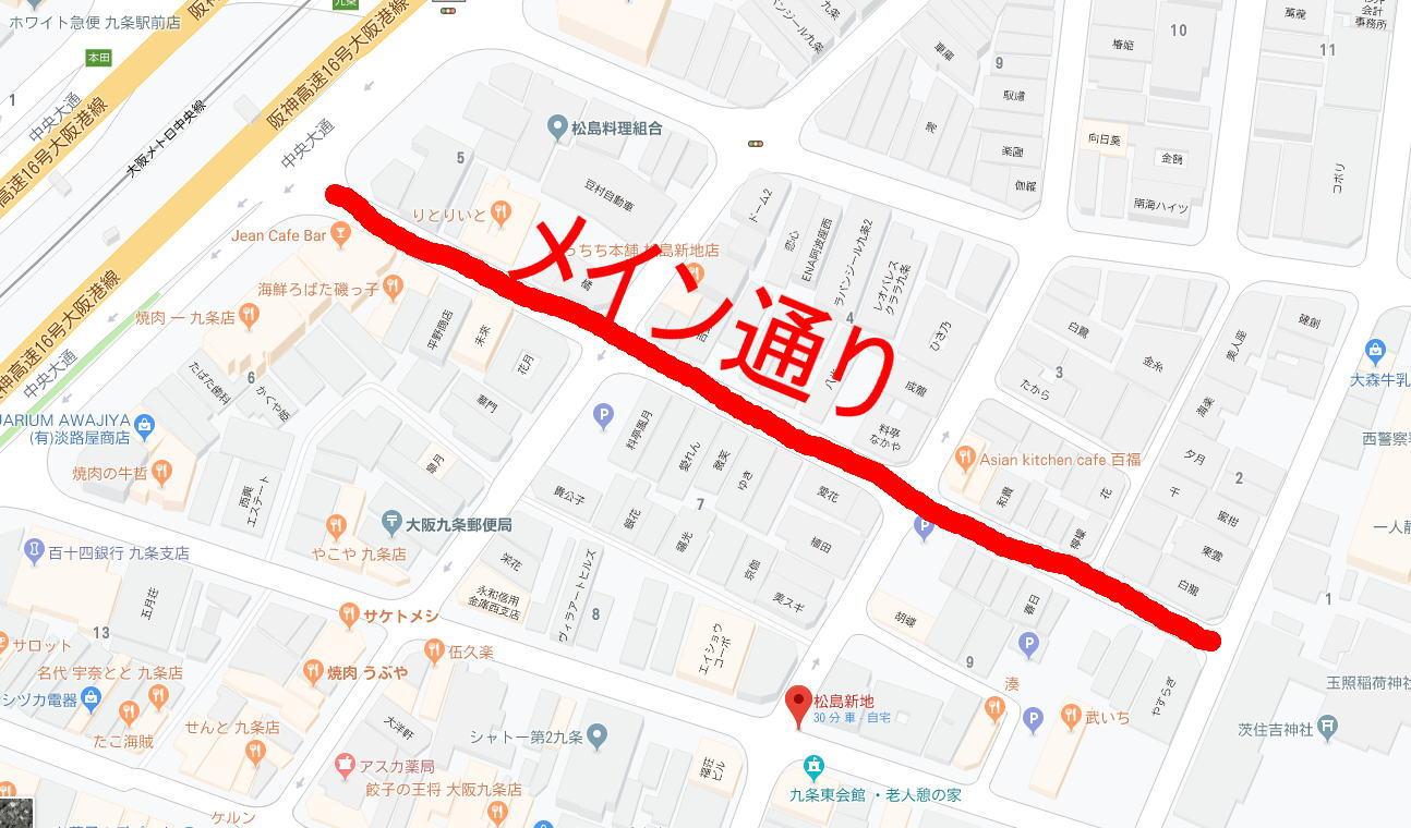 松島新地メイン通り