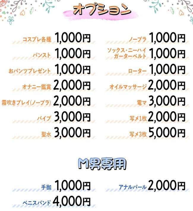 京都クンニージュのオプション料金