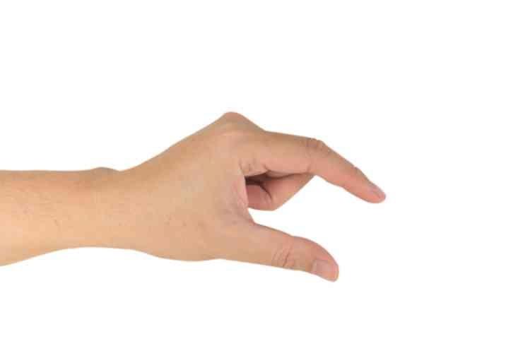 パンティの上から2本の指でまんこをぷにゅ