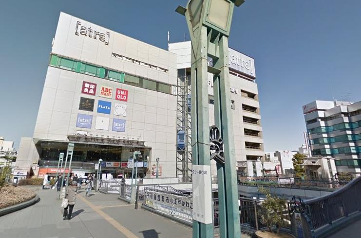待ち合わせの場所の川越駅東口に到着
