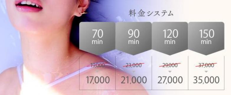 たっぷりハニーオイルSPA大阪店の料金システム