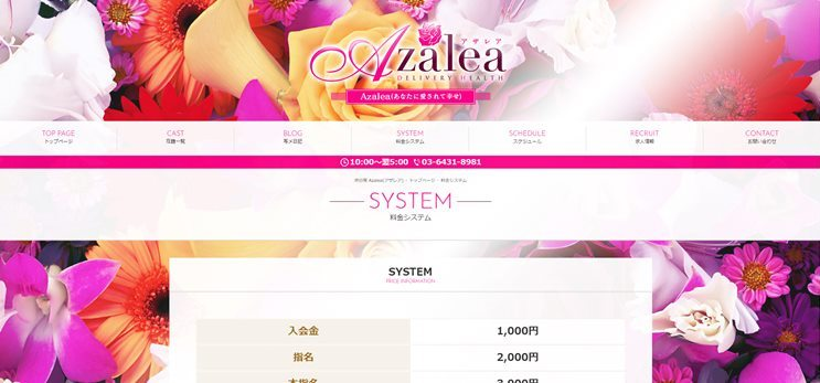 渋谷デリヘルAzalea料金表
