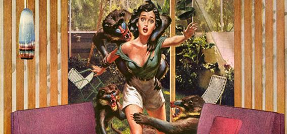 タワマンで襲われる女性のイメージ