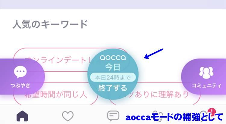 aoccaモード画面
