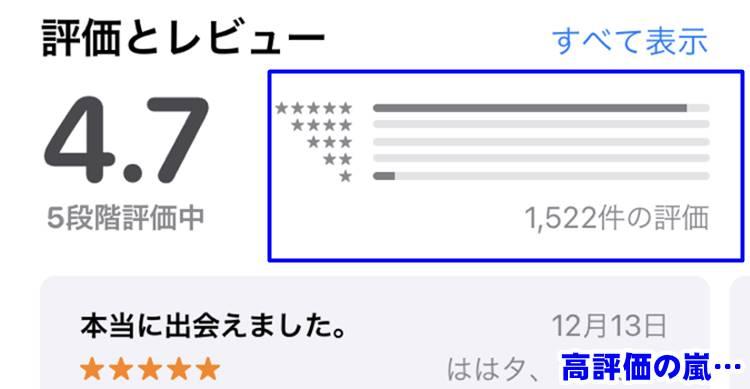 アプリ評価画面
